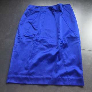 Ori HnM Fitted Blue Skirt Size34 Or S
