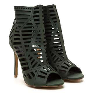Gojane Cut-out Faux Leather Heels