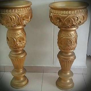 Wooden Carve Flower Stand / Pot Stand