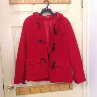 Red And Black Winter Hooded Coats ($20 Each)