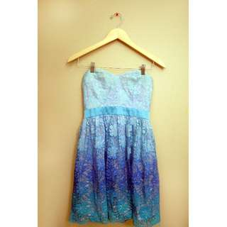 XS Mendocino Ombre Lace Dress