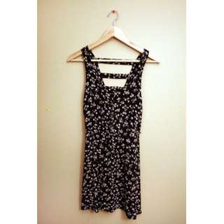 XS Garage Open Back Floral Dress