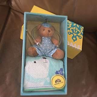 Bear Hanger Hand Towel (gift set)