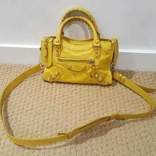 Balenciaga Mini City yellow colour
