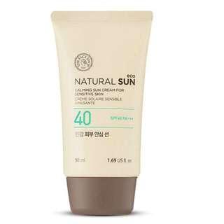 韓國The Face Shop 艷陽女神-安心溫和防曬霜SPF40 PA+++(純物理) 50ml