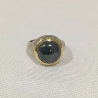 Authentic Tiffany And Co 1999 Sterling Silver Hematite US Size 6.5 Ring