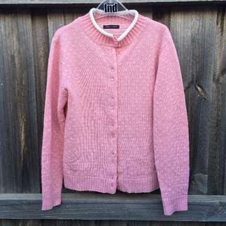 Pink/White Knitted Cardigan
