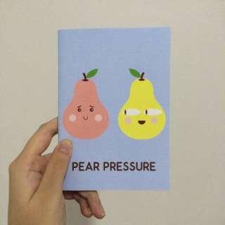 A6 Notebook - Pear Pressure