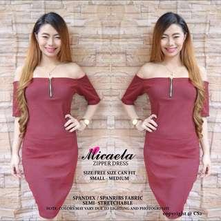 Micaela Zipper Dress