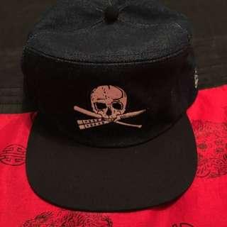 Mens Zoo York Denim Pirate Skull Snapback