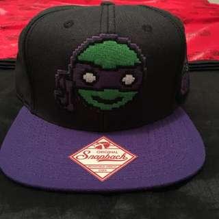 TMNT Donatello Pixel Snapback Purple Rare