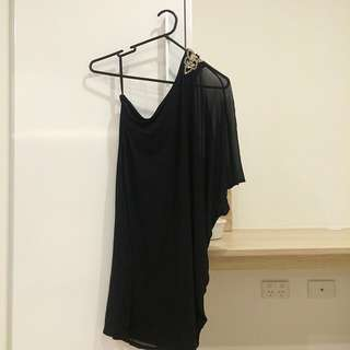 One Shoulder Black Dress Size 8