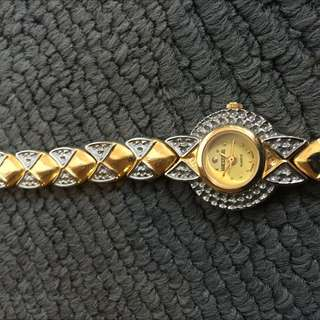 Westar 24k Gold Plated Ladies Vintage Watch