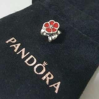Original Pandora 'British Rose Charm'