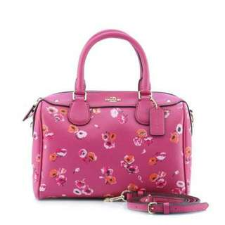 COACH f37491 MINI BENNETT SATCHEL IN SMALL WILDFLOWER PRINT COATED CANVAS