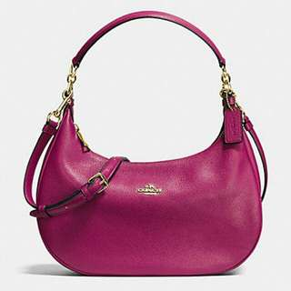 COACH f38250 HARLEY EAST/WEST HOBO IN PEBBLE LEATHER