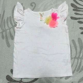 Cotton On Kid's Tee W/ Baby Wings At The Back