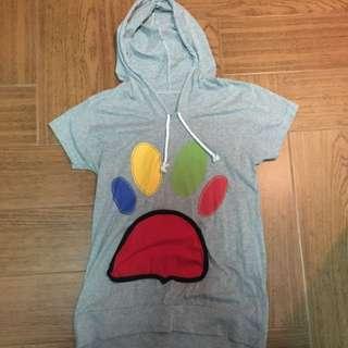 T Shirt Hoodie Paw Pocket