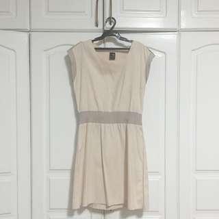 LALU Beige Office Dress (Size S)