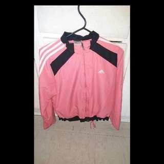 Adidas Black And Pink Windbreaker