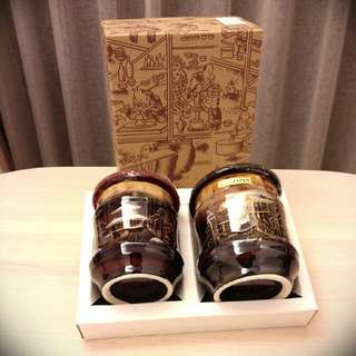 (日本製) 京都天目黑釉燒_對杯組
