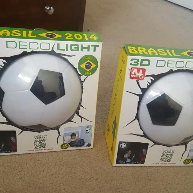 2 Soccer Wall Lights