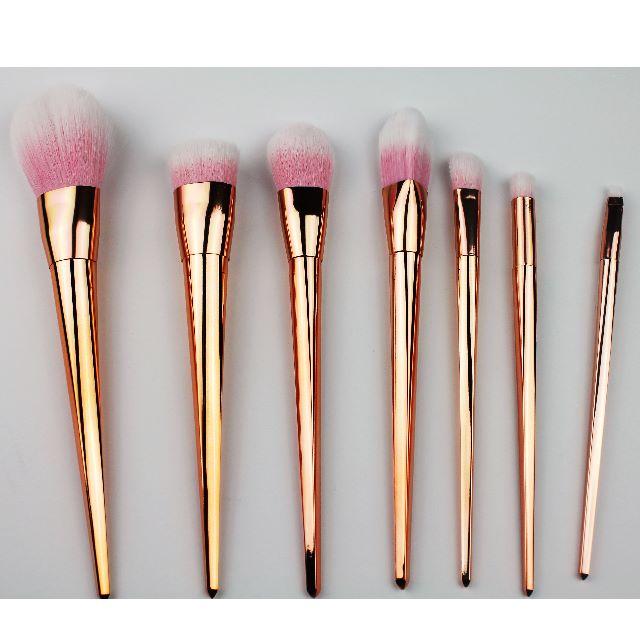 7 PCS Gold Foundation Makeup Brush Set