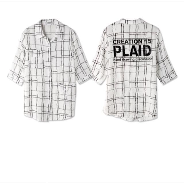 美式格子襯衫