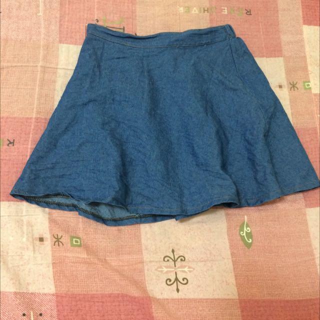 藍色A字裙