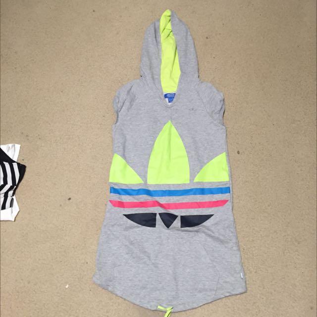 Adidas Sleeveless Long Hoodie