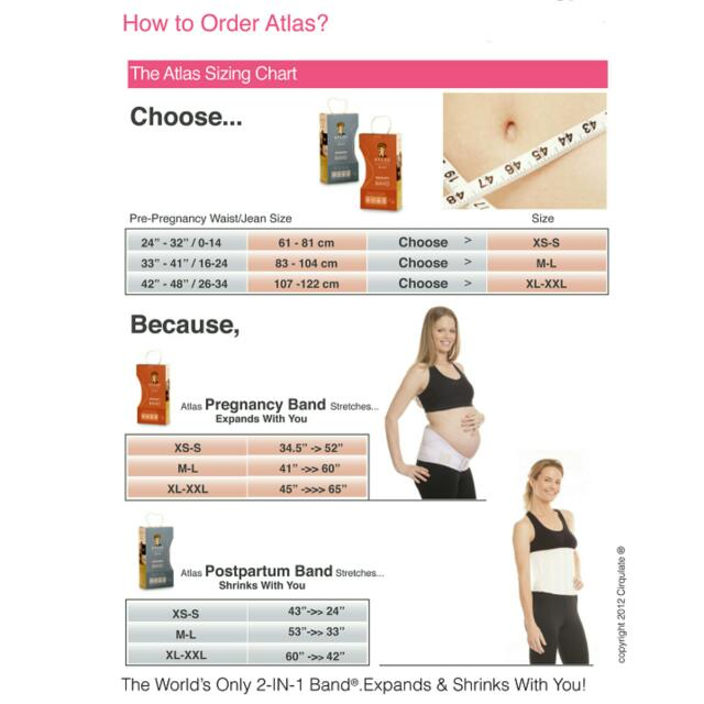 Atlas 2-in-1 For Pregnancy And Post-partum (Combo Band)