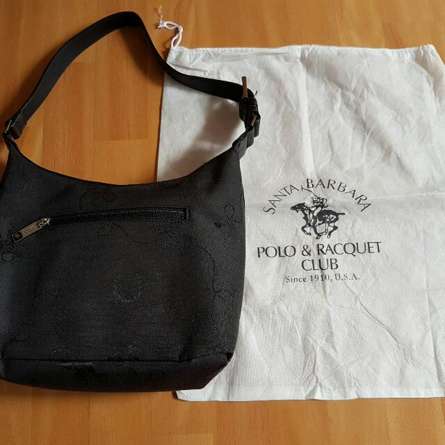 Authentic Santa Barbara Polo   Racquet Club Shoulder Bag (With Dust ... 7532aed7d8a2e