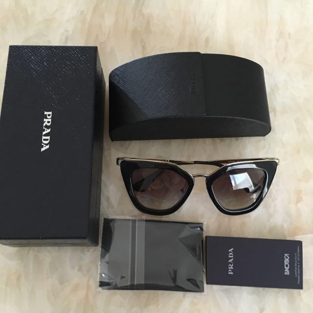 f40a7bbbfd51 ... get brand new authentic prada sunglasses black noir spr535 luxury  accessories on carousell b45f7 4bb1c