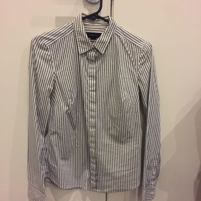 Country Road Size Xs Stripe Shirt Slim Fit