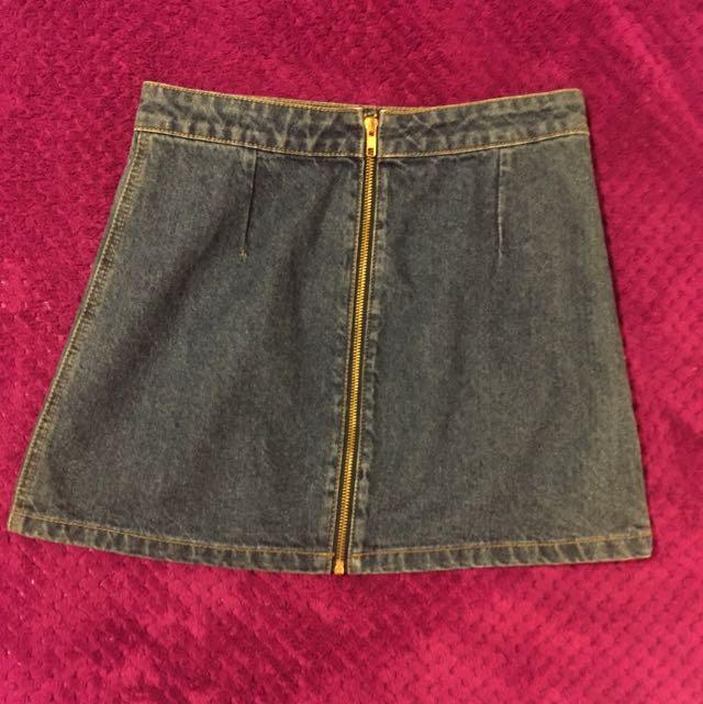 Dotti Mini Demin Skirt Size 8
