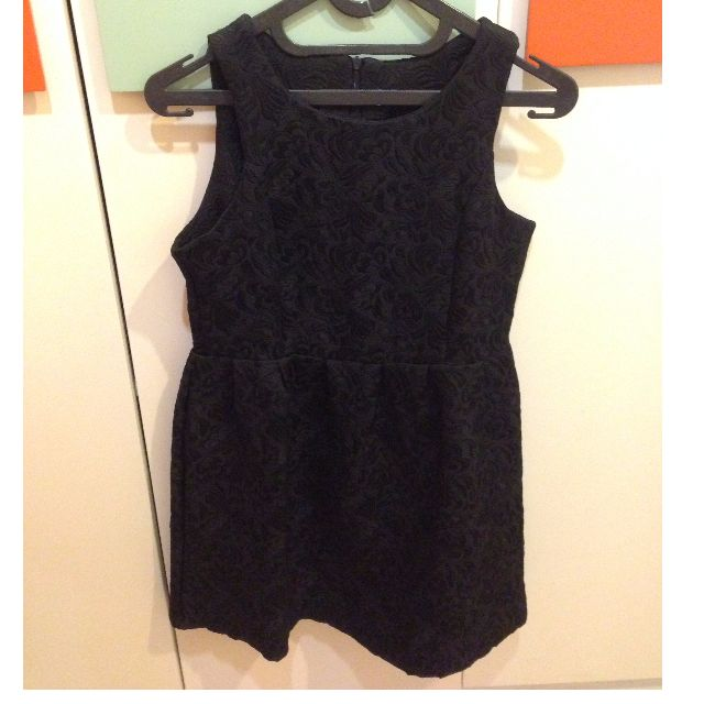 Flare Lace Black Dress