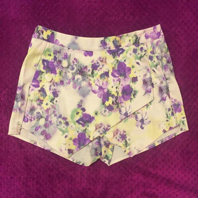 Floral Shorts Size 8