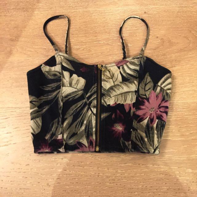 Floral Singlet Midi Top