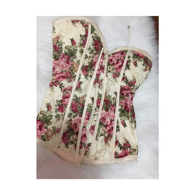 Floral/Lace Corset