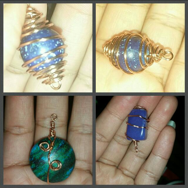 Hand Crafted Wire Wrapped Charms