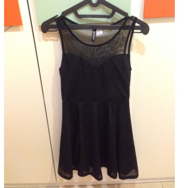 H&M Flare Black Dress
