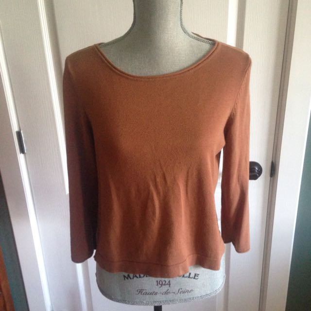 H&M Light Brown Top With Elbow Pads