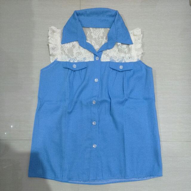 Lace Combi Shirt