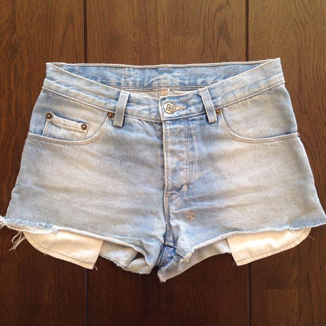 "Ksubi Denim Shorts Size 25"" (Size 6/8)"
