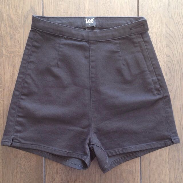 Lee Black High Waisted Shorts Size 6