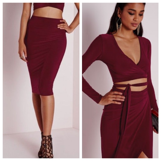 Missguided skirt and top set