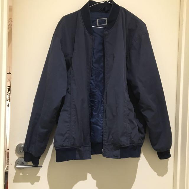 Navy Vintage Bomber Jacket