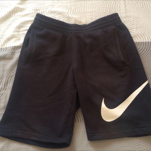 Nike 黑色大勾棉褲