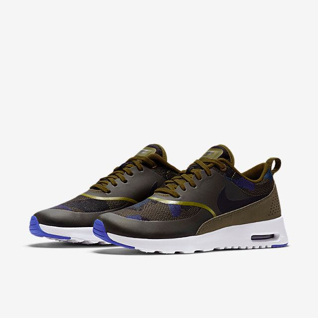 78afc70d78 Nike Air Max Thea Jacquard (Women) - Olive/Dark Loden/Game Royal ...