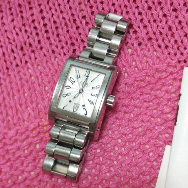 原價四萬四Oris豪利時女用機械錶 銀色 方框